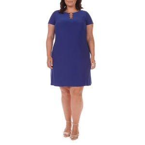 MSK Shift Dress Royal Blue Von Maur